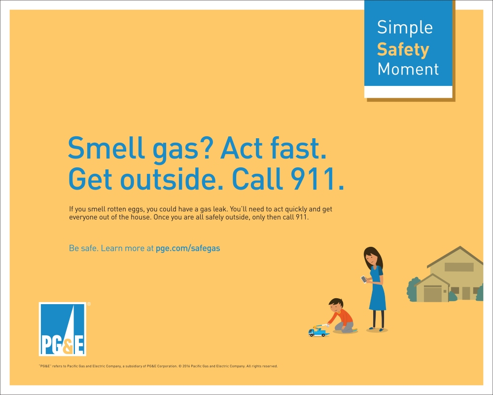 PGE Safety Campaign Print Ad - Gas Odor.jpg