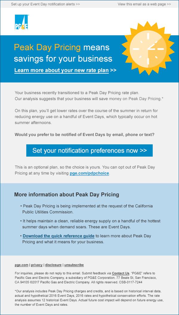 PGE PDP Desktop Email