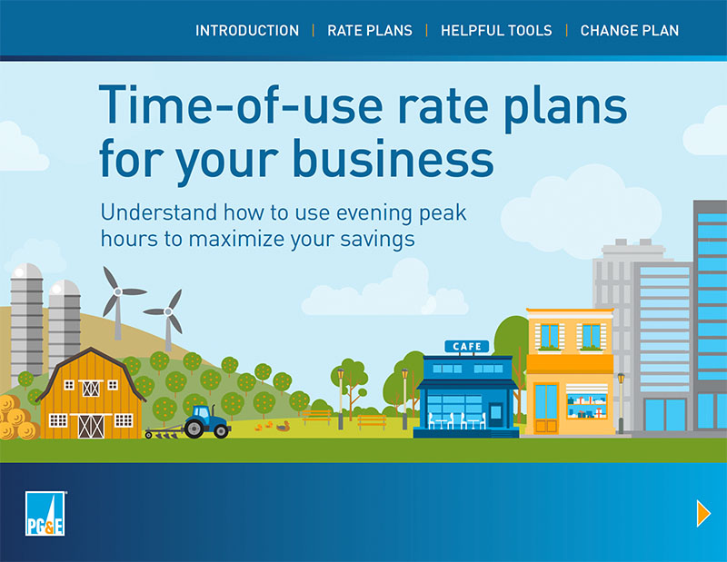 PG&E TOU Business Interactive Cover